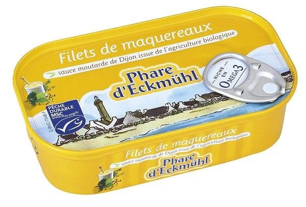 Filets de maquereaux sauce moutarde 113g